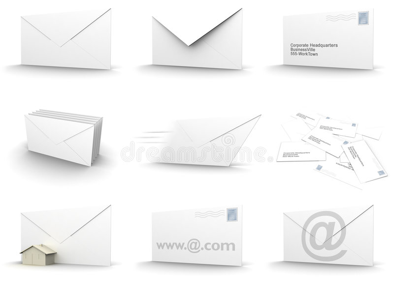 De collage van de envelop vector illustratie