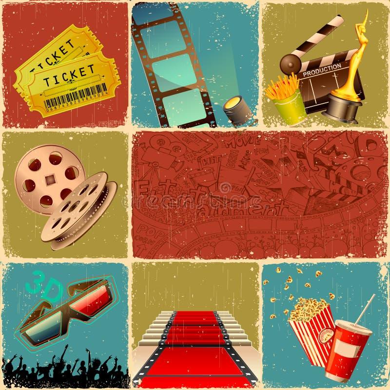De Collage van de film stock illustratie
