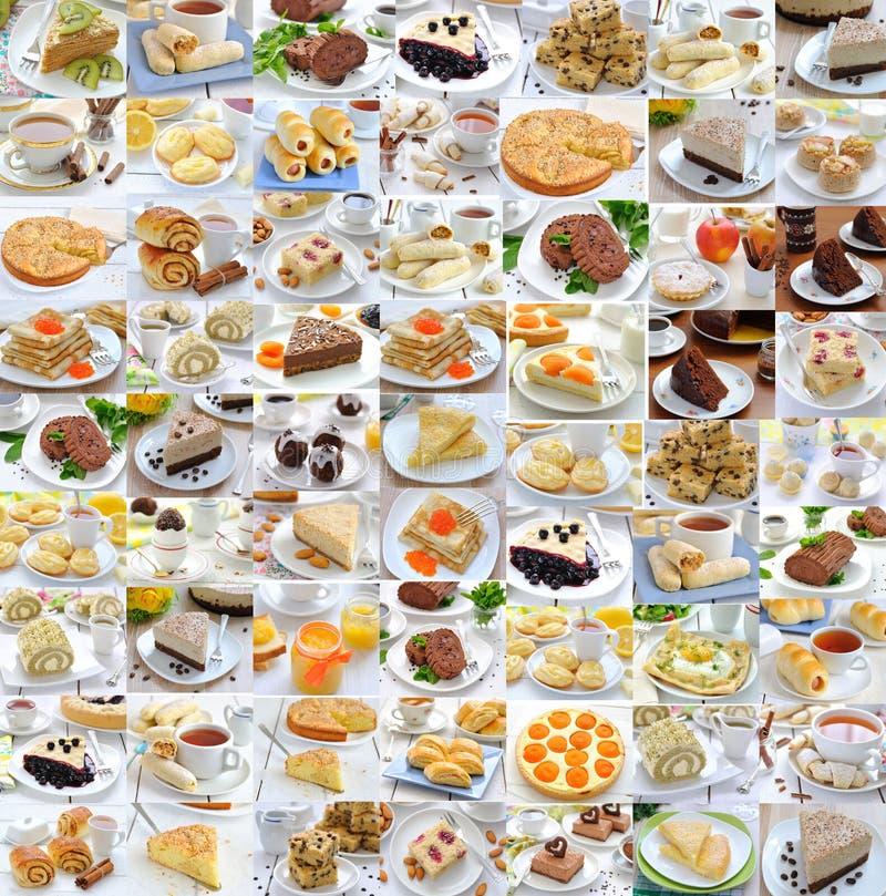 De collage van de foto van voedsel stock afbeeldingen