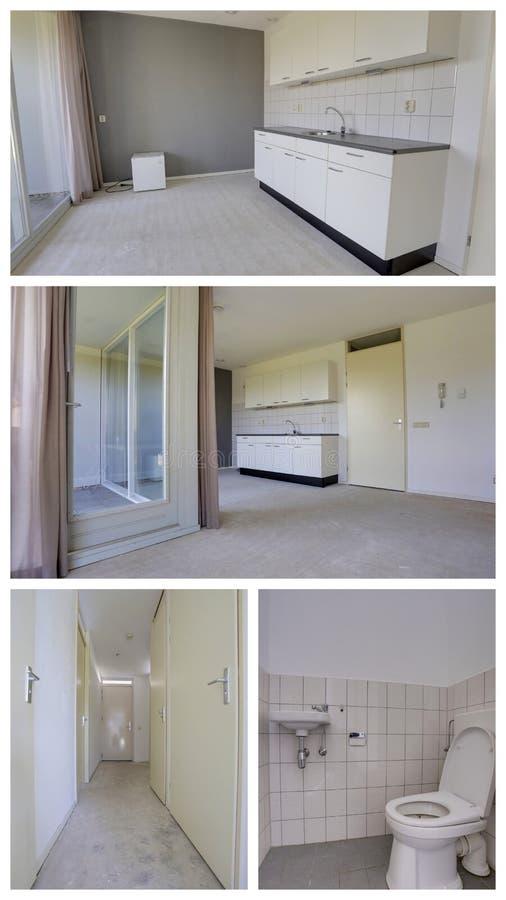 De collage van de huisbouw stock foto