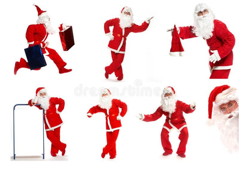De collage van de kerstman