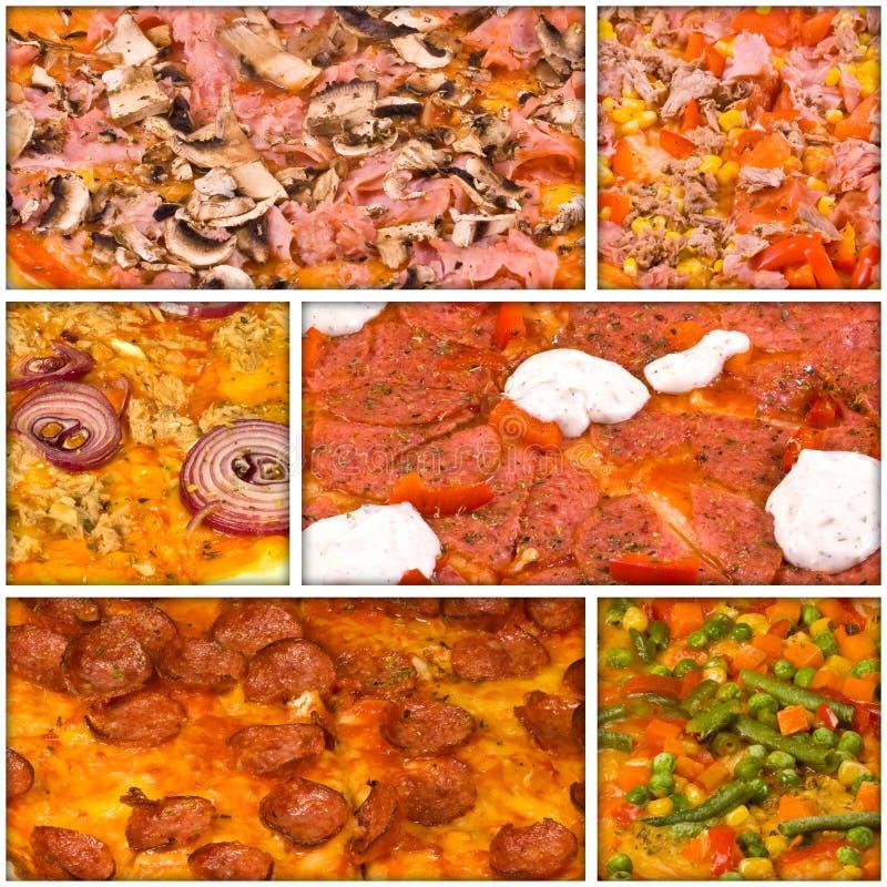 De collage van de pizza stock fotografie