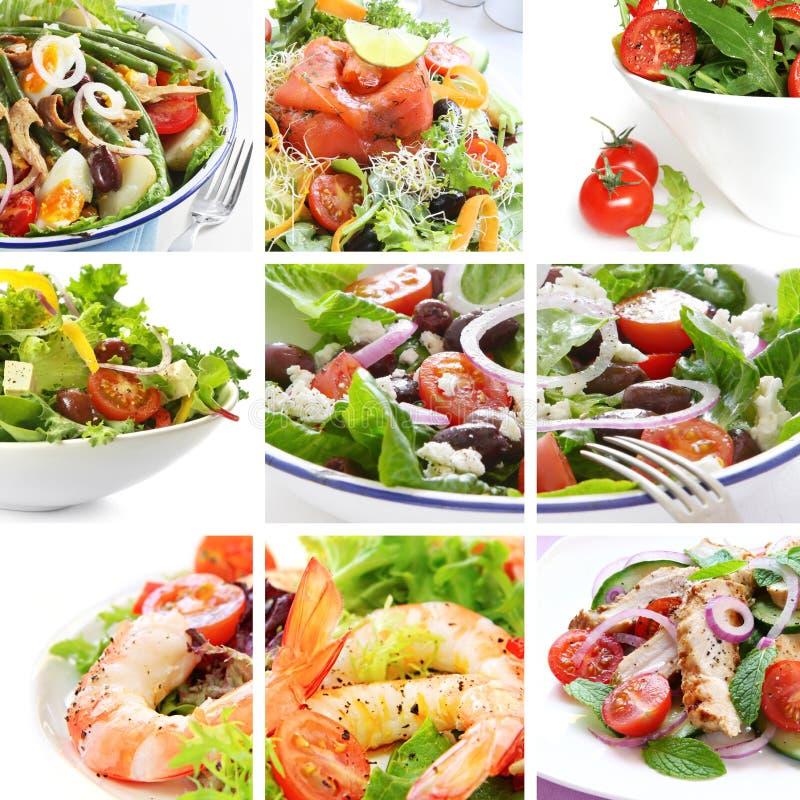 De Collage van de salade stock foto's