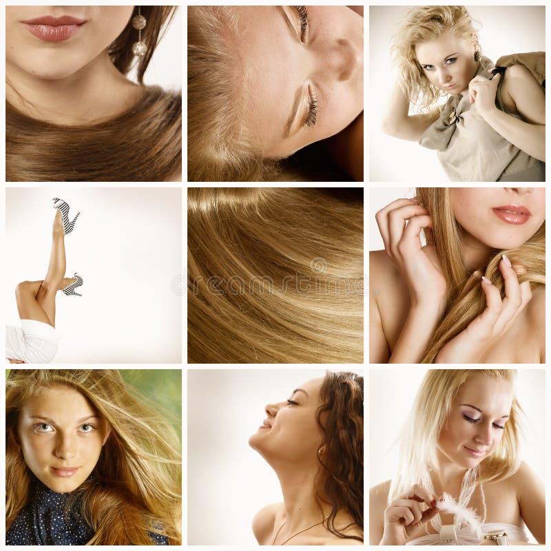 De collage van de schoonheidsindustrie stock foto