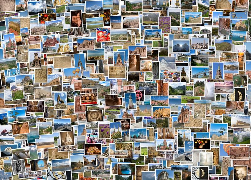 De collage van de wereldreis stock fotografie