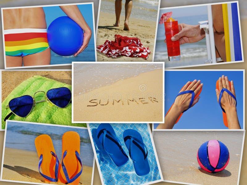 De collage van de zomer stock foto's