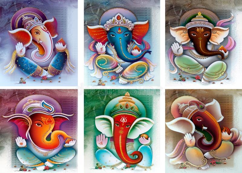 De collage van Ganesh stock illustratie