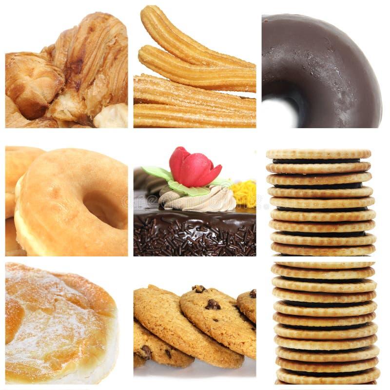 De collage van gebakjes royalty-vrije stock foto's