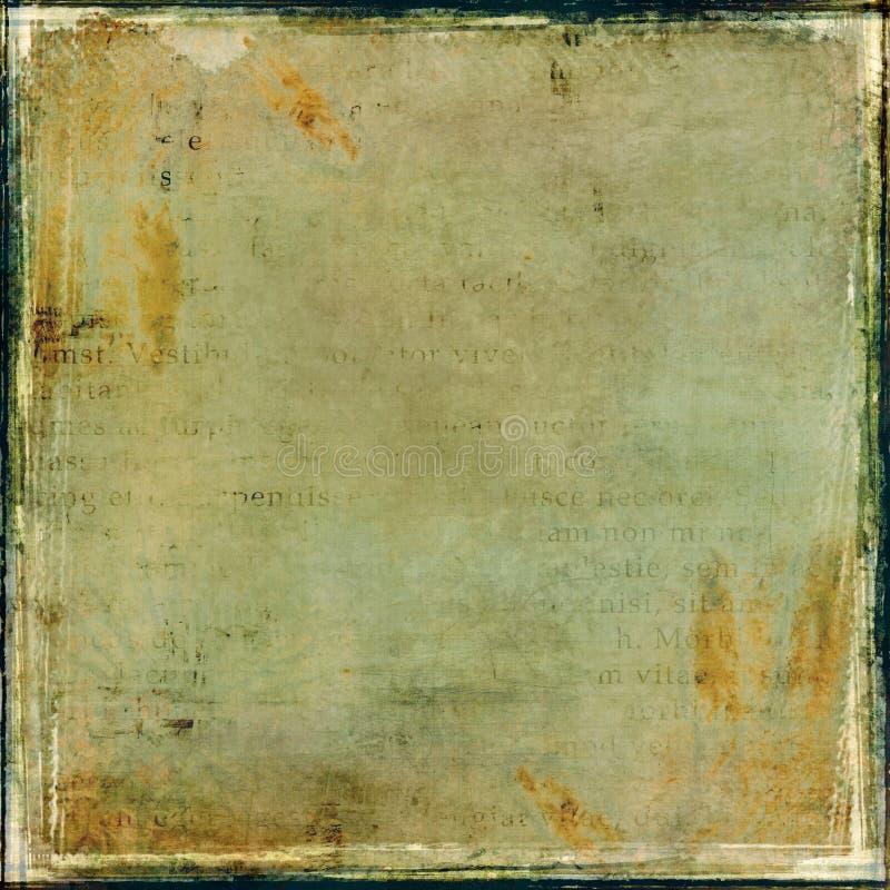 De collage van Grunge met frame royalty-vrije stock afbeelding