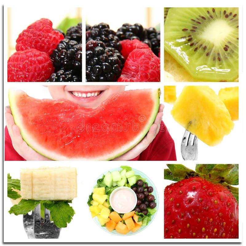 De Collage van het fruit stock foto's