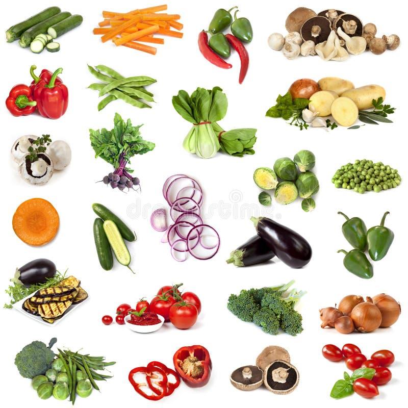 De Collage van het groentenvoedsel royalty-vrije stock afbeeldingen