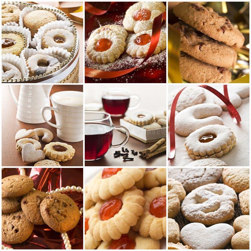 De collage van het koekje stock foto