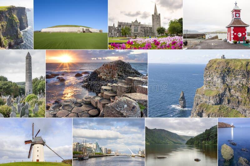 De collage van het land van Ierland royalty-vrije stock afbeelding