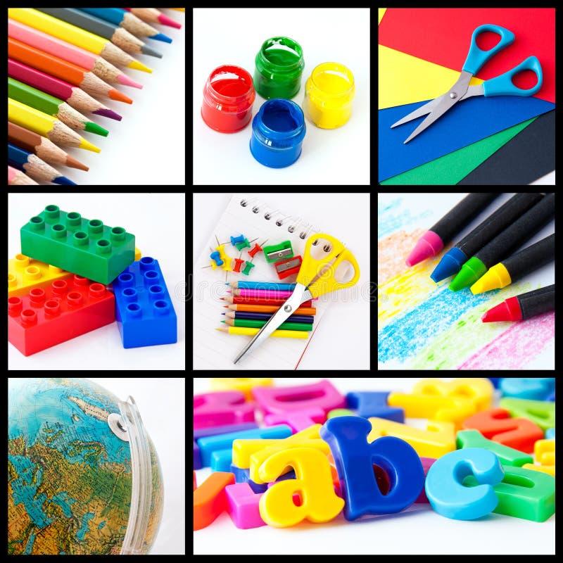 De collage van het onderwijs stock fotografie