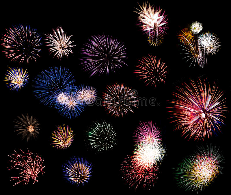 De collage van het vuurwerk royalty-vrije stock afbeeldingen