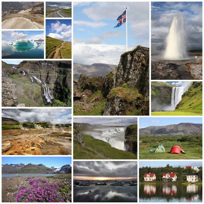 De collage van IJsland royalty-vrije stock fotografie