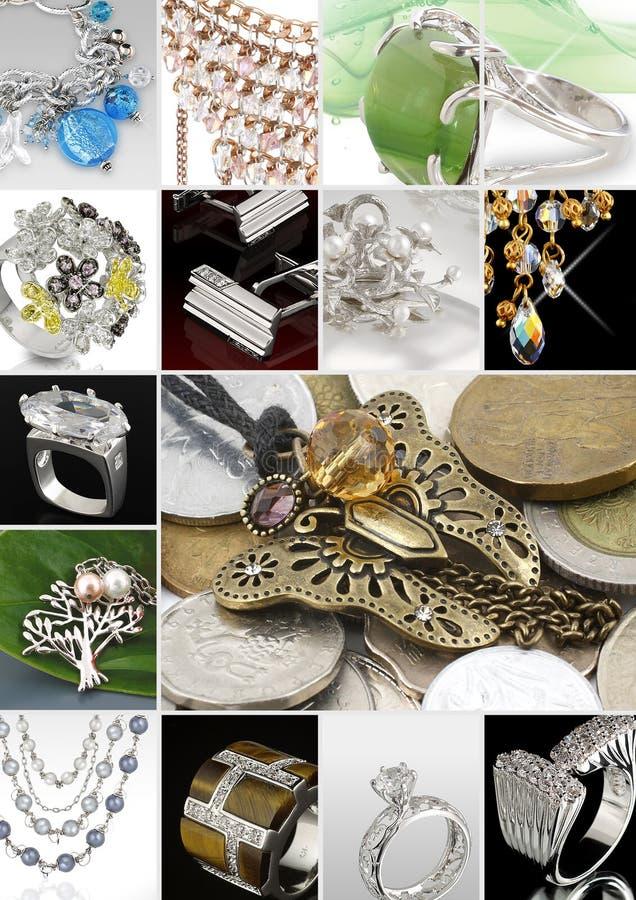 De collage van juwelen royalty-vrije stock foto's