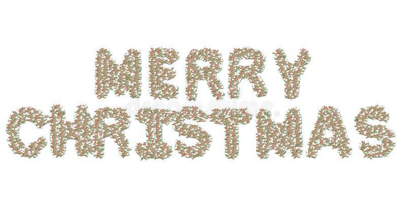 De collage van Kerstmis royalty-vrije illustratie