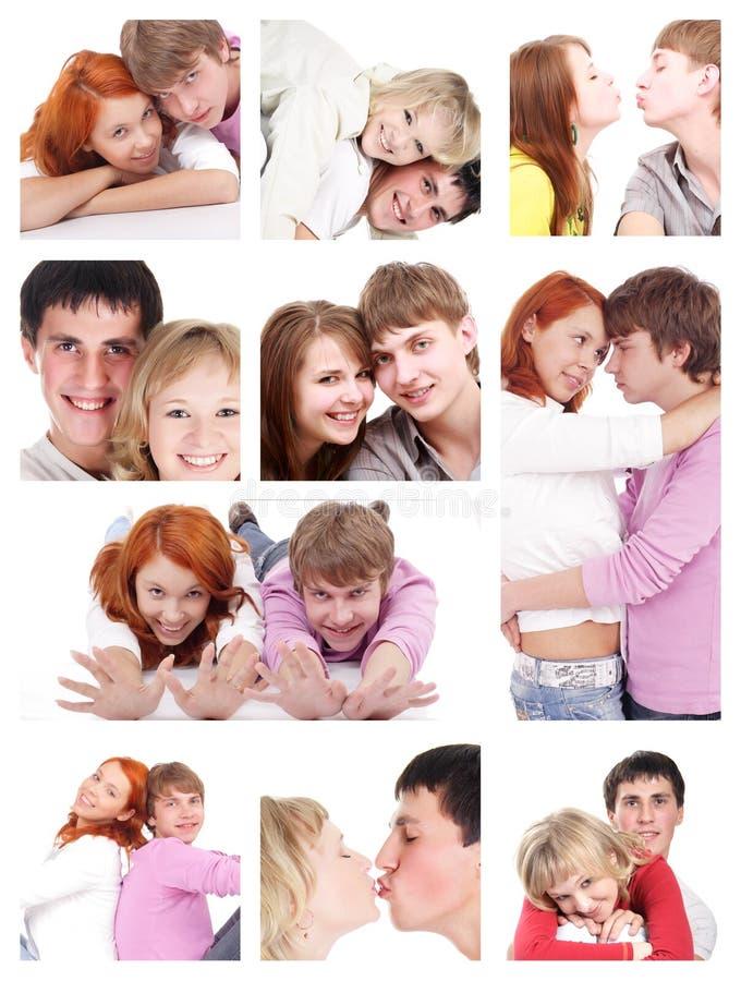 De collage van minnaars stock afbeelding