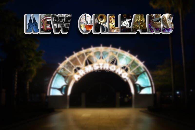 De collage van New Orleans en Armstrong-Park royalty-vrije stock foto