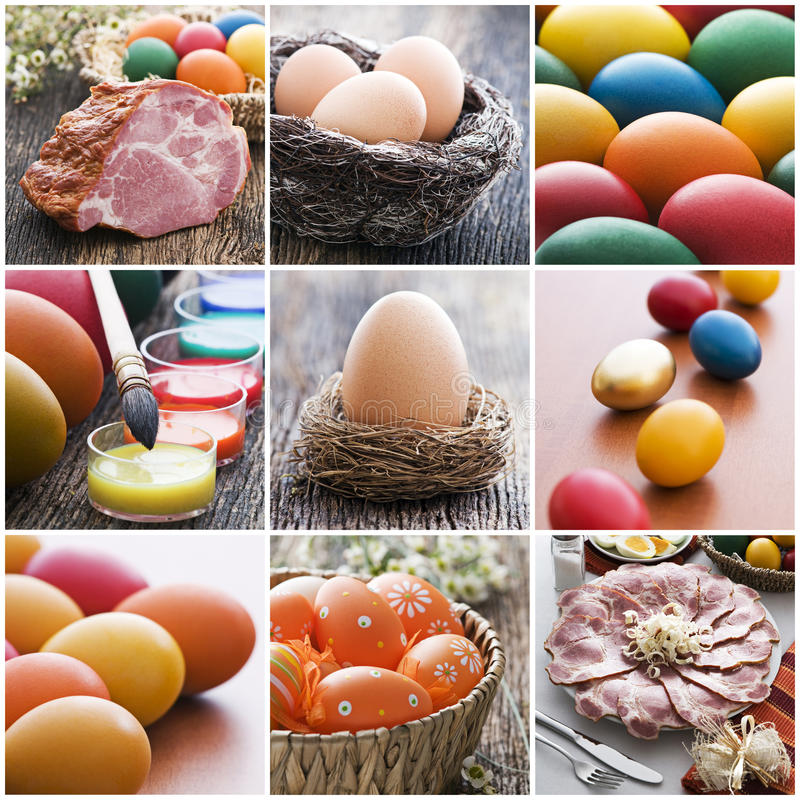 De collage van Pasen stock foto's