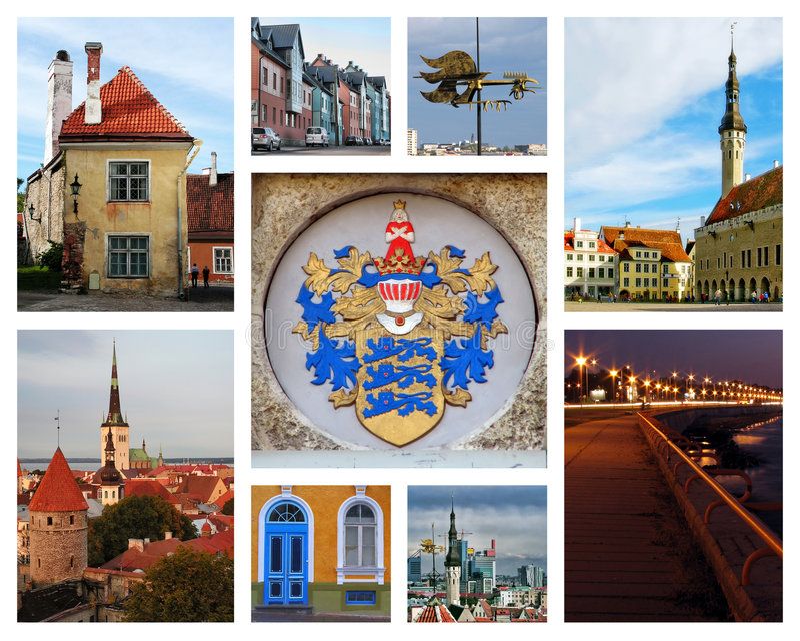 De collage van Tallinn royalty-vrije stock afbeelding