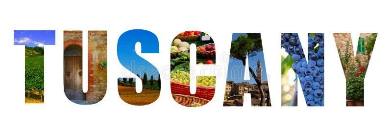 De collage van Toscanië Italië stock foto