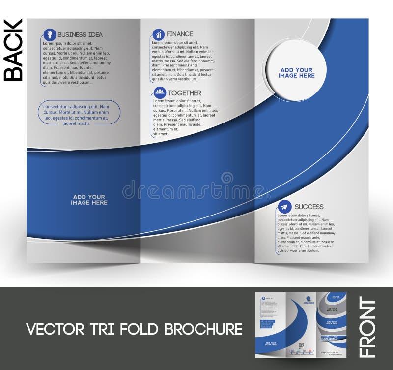 De collectieve Brochure Bedrijfs van Trifold royalty-vrije illustratie