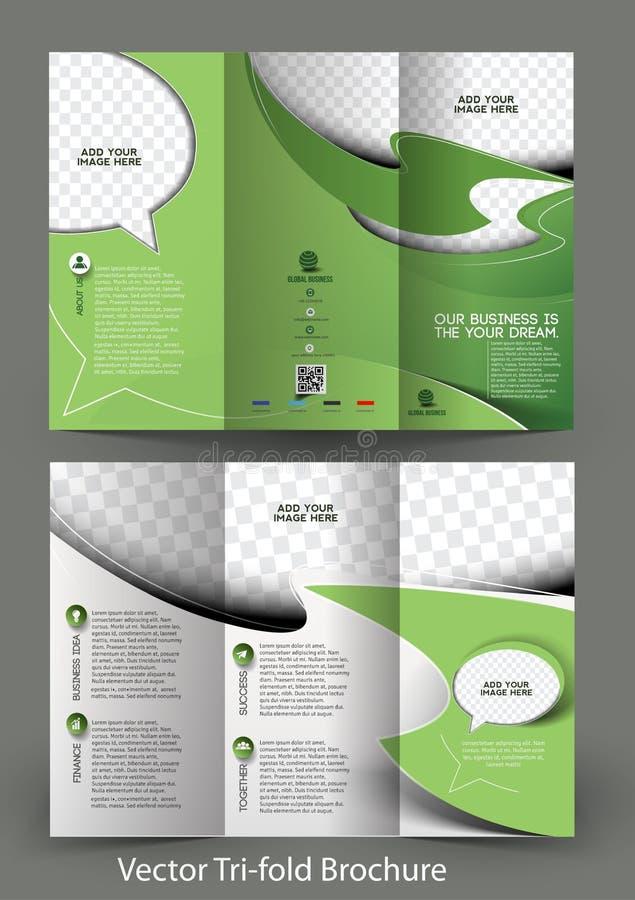 De collectieve Brochure van Bedrijfsopslagtrifold vector illustratie