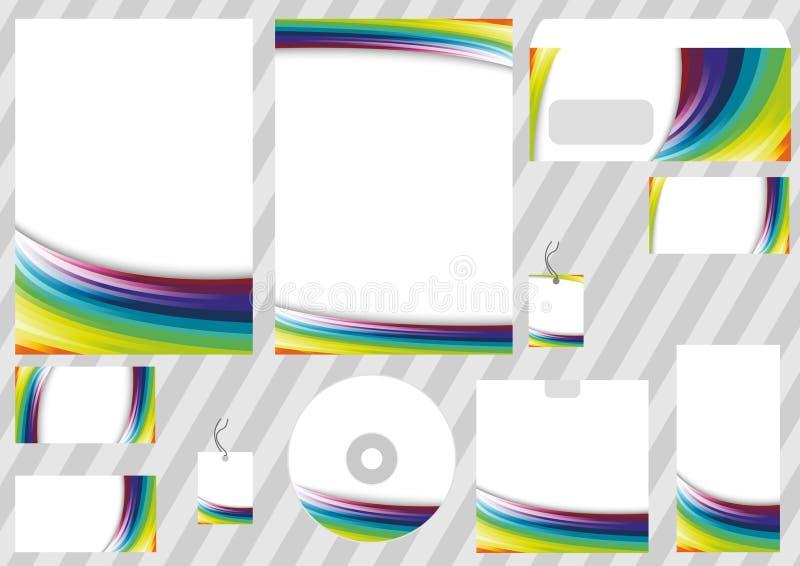 De collectieve elementen van het regenboogontwerp - malplaatjes vector illustratie