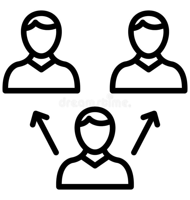 De collectieve ethiek isoleerde Vectorpictogram dat zich gemakkelijk kan wijzigen of uitgeven stock illustratie