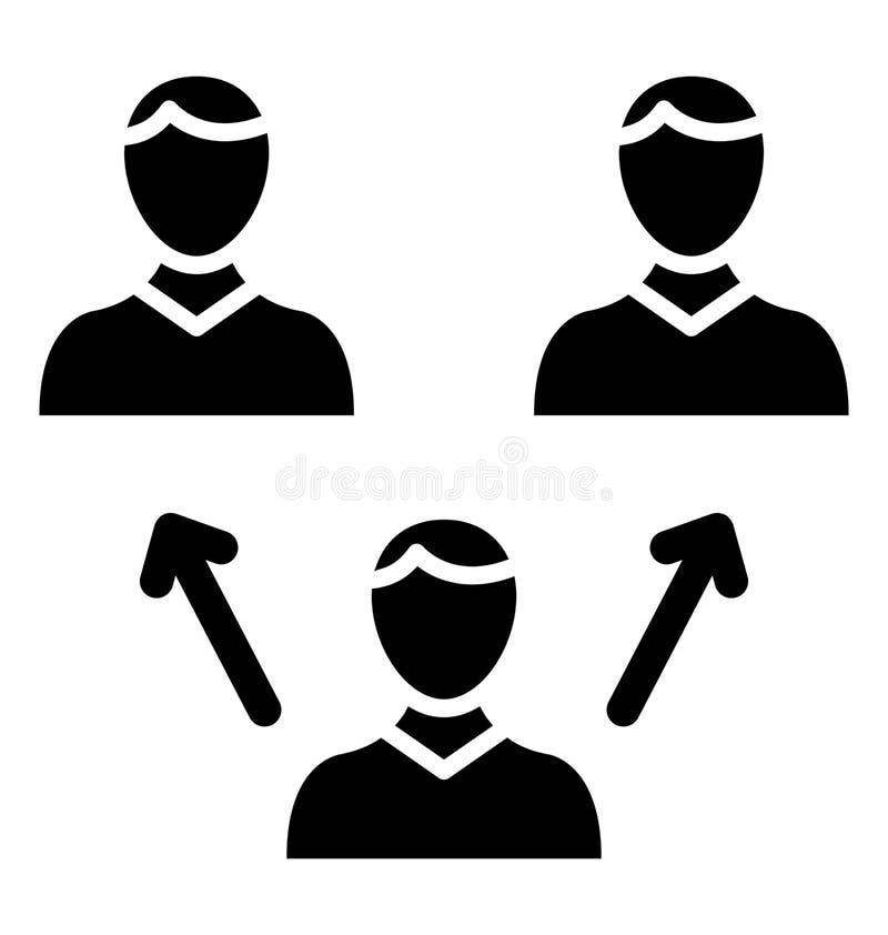 De collectieve ethiek isoleerde Vectorpictogram dat zich gemakkelijk kan wijzigen of uitgeven vector illustratie
