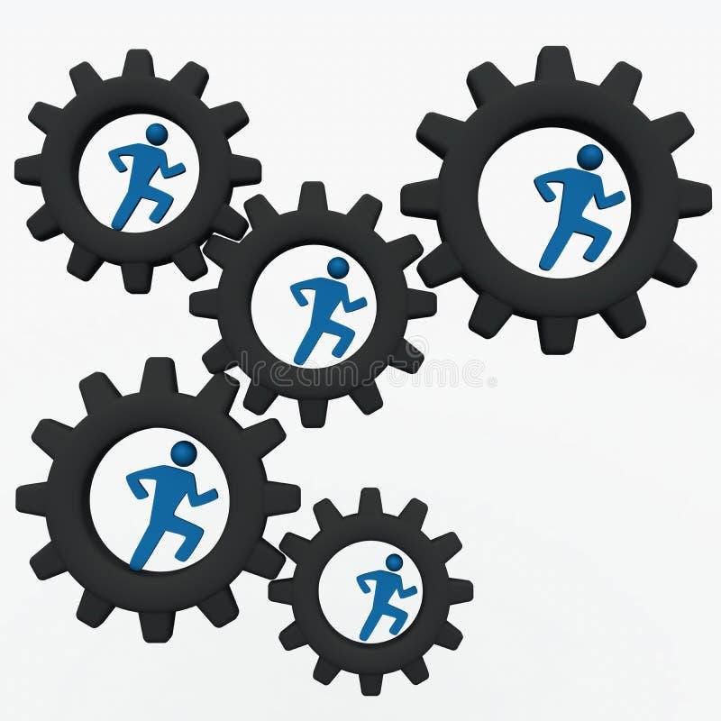 De collectieve machines van mensen vector illustratie