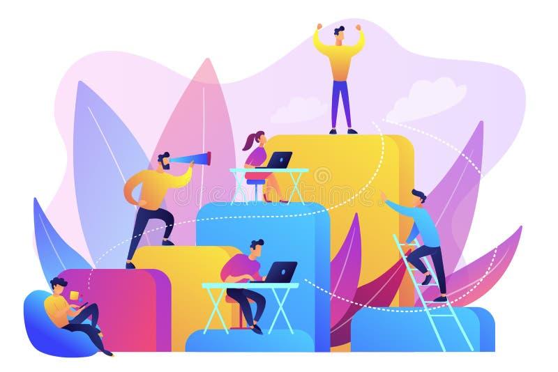 De collectieve vectorillustratie van het ladderconcept royalty-vrije illustratie