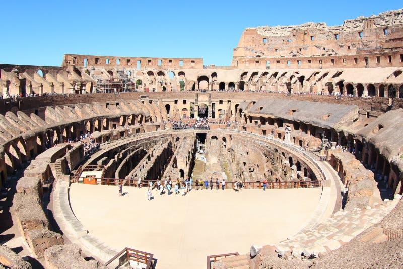 De Colosseum-Arena, Rome stock foto's