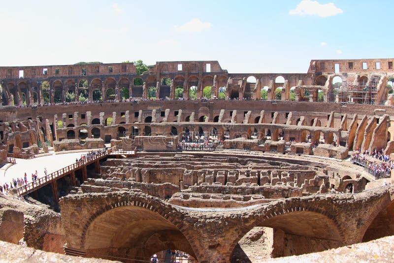 De Colosseum-Arena, Rome stock afbeeldingen