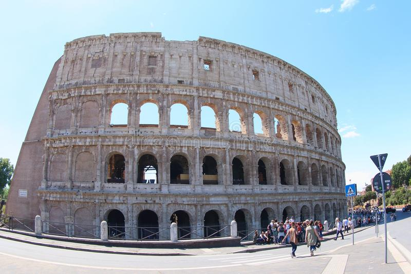 De Colosseum-Arena, Rome stock foto