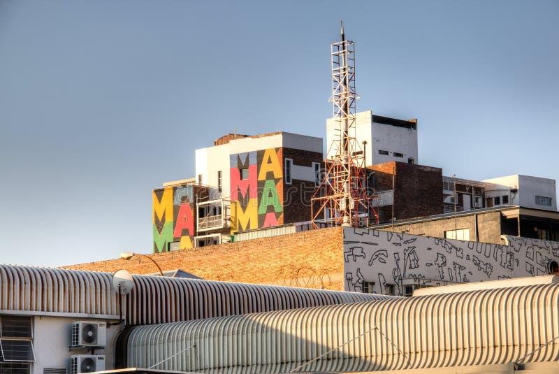 De Colourfullbouw in Maboneng, Johannesburg stock afbeeldingen