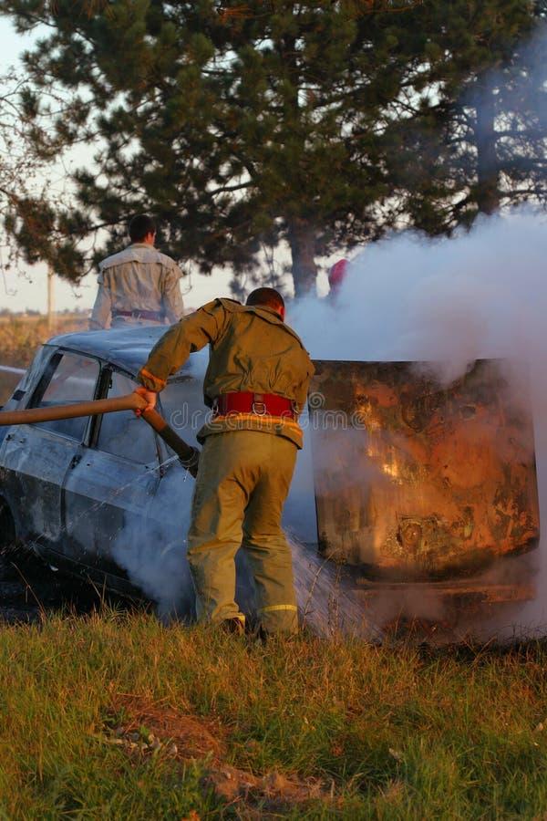 De combate ao fogo imagens de stock