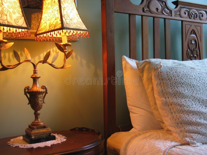 De comfortabele Scène van de Slaapkamer royalty-vrije stock afbeelding