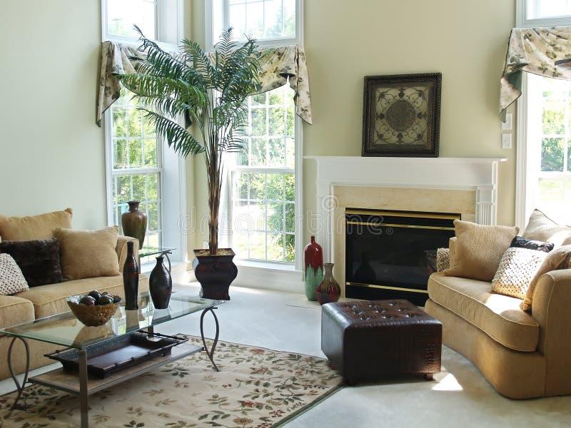 De comfortabele Zaal van de Familie stock afbeelding