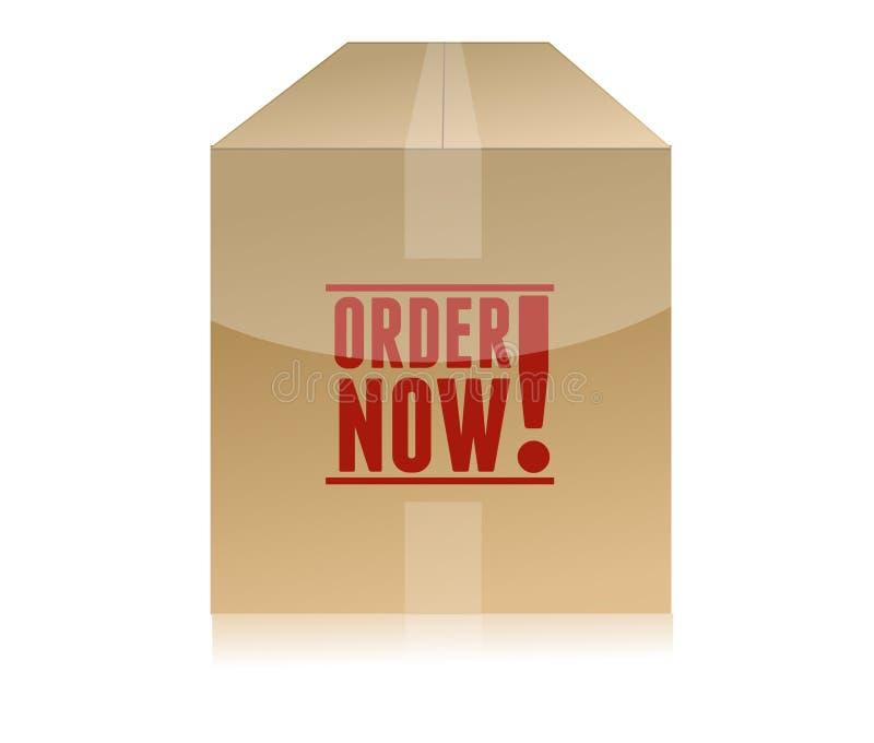 De commande illustration de boîte en carton maintenant illustration stock