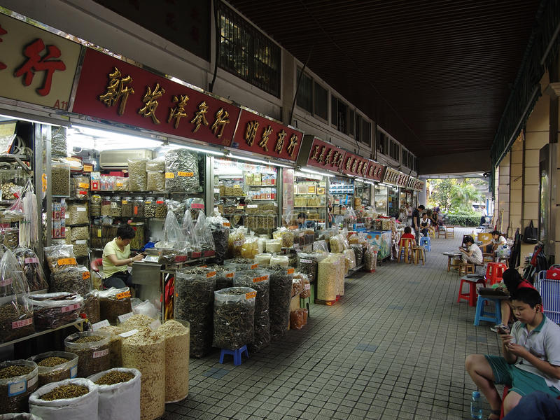 De Commerciële straat van China Guangzhou stock afbeeldingen