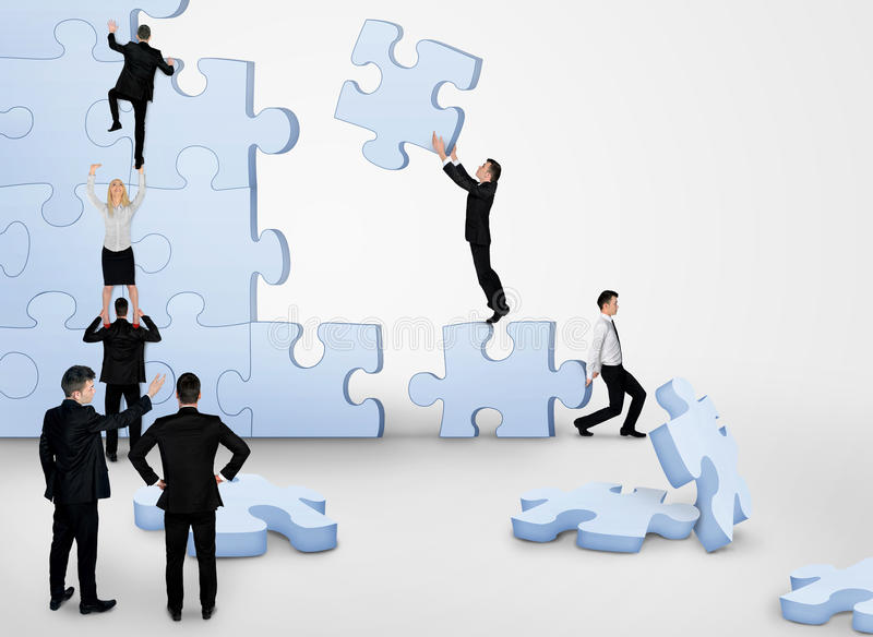 De commerciële teambouw raadsel royalty-vrije stock afbeeldingen