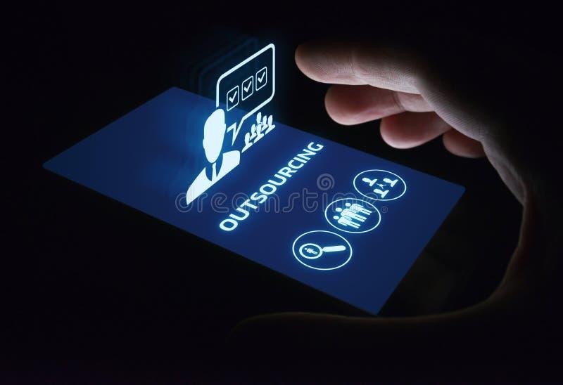 De Commerciële van het delocaliseringspersoneel Technologieconcept van Internet stock foto
