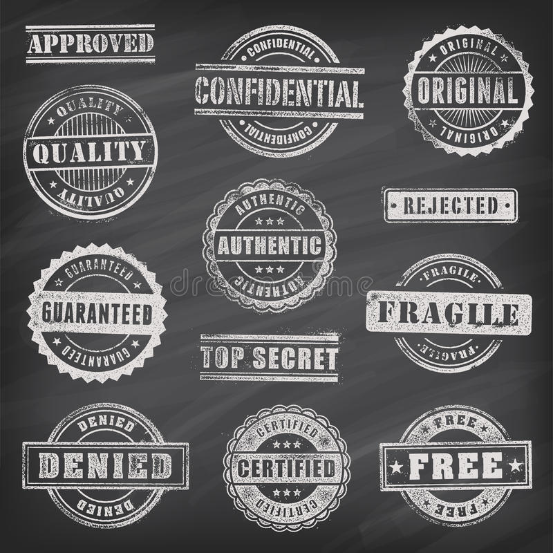 De commerciële Vectorzegels van Grunge royalty-vrije illustratie