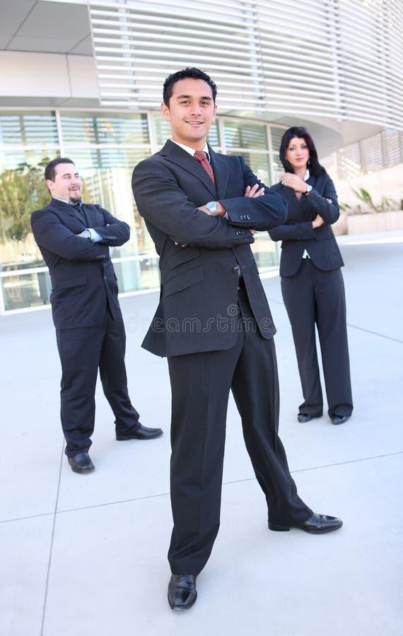 De commerciële Vergadering van de Groep op het Kantoor stock foto's