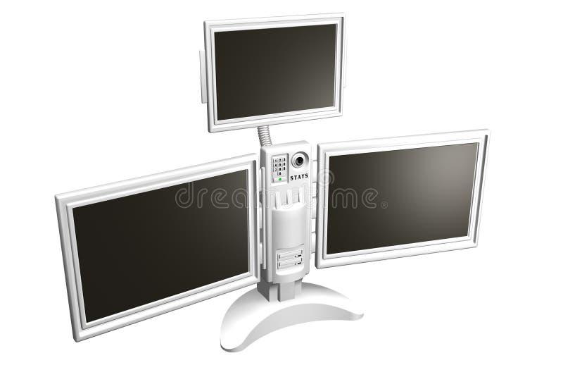 De commissie van monitors royalty-vrije illustratie