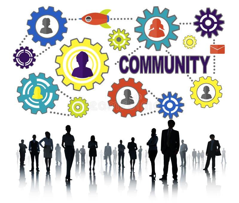 De communautaire Bevolking Team Tradition Union Concep van de Cultuurmaatschappij stock afbeelding