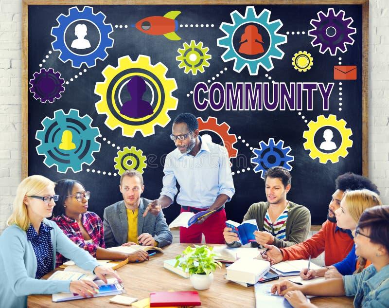 De communautaire Bevolking Team Tradition Union Concep van de Cultuurmaatschappij royalty-vrije stock foto's
